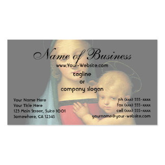 Madonna And Child, Madonna del Granduca by Raphael Business Card Template