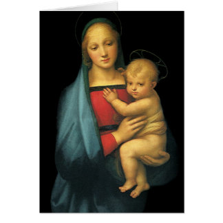 Madonna And Child Madonna del Granduca by Raphael Greeting Card