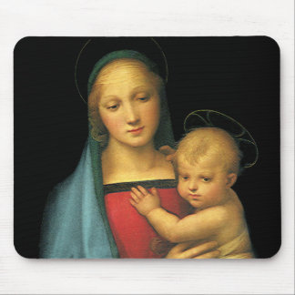 Madonna And Child, Madonna del Granduca by Raphael Mouse Pad
