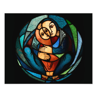 MADONNA AND CHILD multicolored simbol 11.5 Cm X 14 Cm Flyer