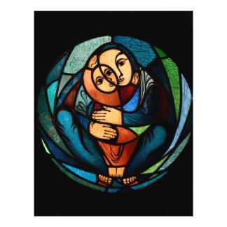 MADONNA AND CHILD multicolored simbol 21.5 Cm X 28 Cm Flyer