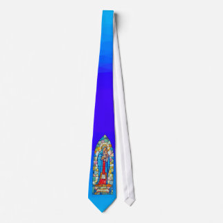 Madonna and Child Nativity Stained Glass Style Tie