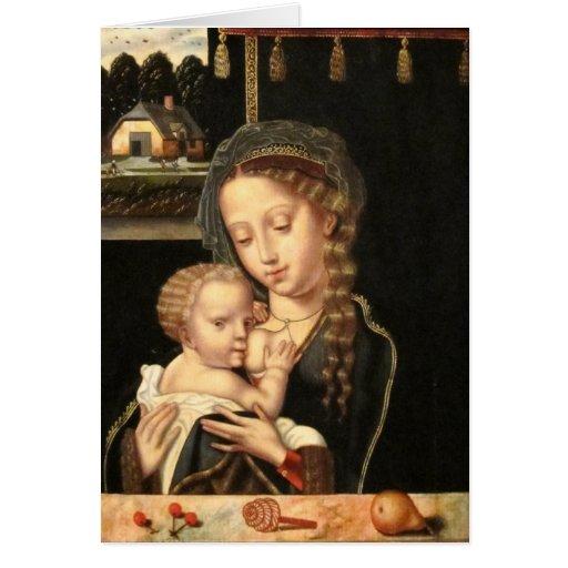 Madonna and Child Nursing Card