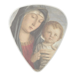 Madonna and Child (oil on panel) 2 Acetal Guitar Pick