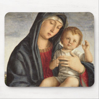 Madonna and Child (oil on panel) 2 Mouse Pad