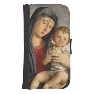 Madonna and Child (oil on panel) 2 Phone Wallet Case
