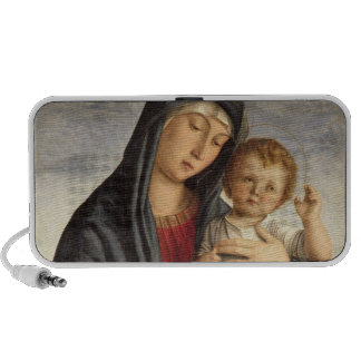 Madonna and Child (oil on panel) 2 Travelling Speakers