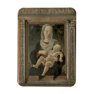 Madonna and Child (oil on panel) Rectangular Photo Magnet