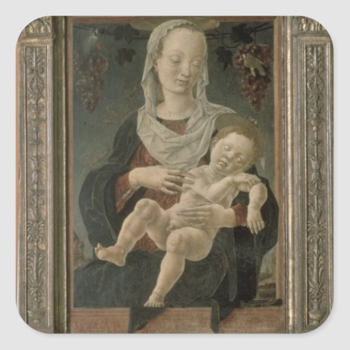 Madonna and Child (oil on panel) Stickers