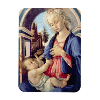 Madonna and Child (panel) 2 Rectangular Photo Magnet