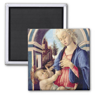 Madonna and Child (panel) 2 Square Magnet