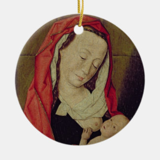 Madonna and Child (panel) Round Ceramic Decoration