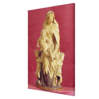 Madonna and Child (papier mache) Canvas Print
