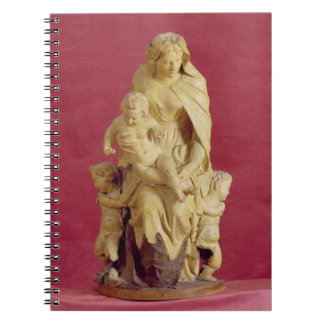 Madonna and Child (papier mache) Spiral Notebook