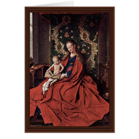 Madonna And Child Reading By Eyck Jan Van (Best Qu Card