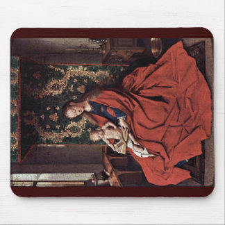 Madonna And Child Reading By Eyck Jan Van (Best Qu Mouse Pad