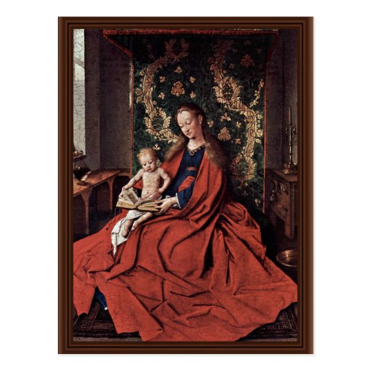Madonna And Child Reading By Eyck Jan Van