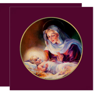 Madonna and Child. Religious Christmas Cards 13 Cm X 13 Cm Square Invitation Card