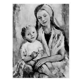 Madonna and Child religious fine art postcard