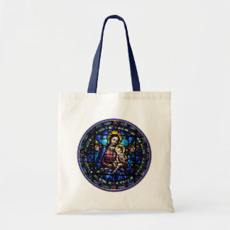 Madonna and Child Stained Glass Look