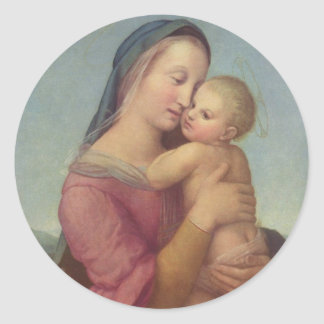 Madonna and Child (The Tempi Madonna) by Raphael Round Sticker