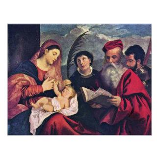 Madonna And Child To St Stephen St Jerome Custom Invites