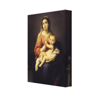 Madonna and Child - Virgin Mary - Murillo Canvas Prints