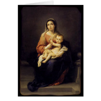 Madonna and Child - Virgin Mary - Murillo Greeting Card