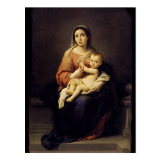 Madonna and Child - Virgin Mary - Murillo Postcard
