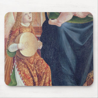 Madonna and Child with Angel Musicians Mouse Mat