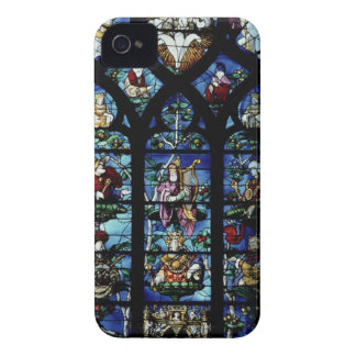 Madonna and Child with angels and portraits reflec iPhone 4 Case