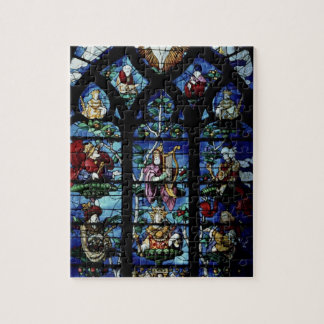 Madonna and Child with angels and portraits reflec Puzzle