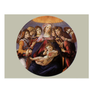 Madonna and Child with Angels by Sandro Botticelli Postcards