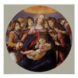 Madonna and Child with Angels by Sandro Botticelli Poster