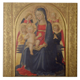 Madonna and Child with Angels, c.1467 (oil on pane Tile
