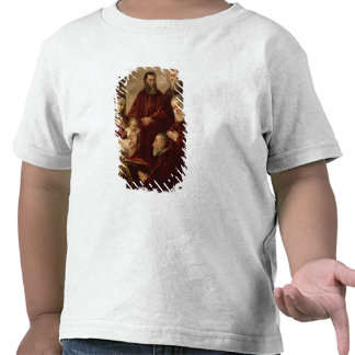 Madonna and child with four Statesmen Tee Shirts