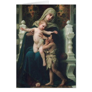 Madonna and child with John the Baptist card