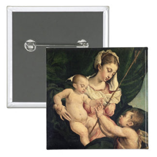 Madonna and Child with Saint John, c.1570 (oil on 15 Cm Square Badge
