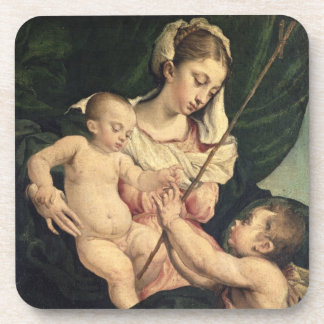 Madonna and Child with Saint John c 1570 oil on Coaster
