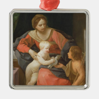 Madonna and Child with Saint John the Baptist Christmas Ornament