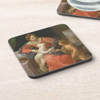 Madonna and Child with Saint John the Baptist Drink Coasters