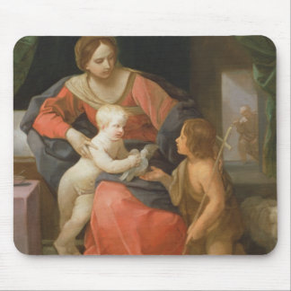 Madonna and Child with Saint John the Baptist Mouse Mat