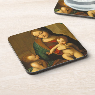 Madonna and Child with Saints Beverage Coaster