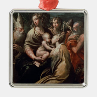 Madonna and Child with Saints, c.1529 (oil on pane Christmas Ornament