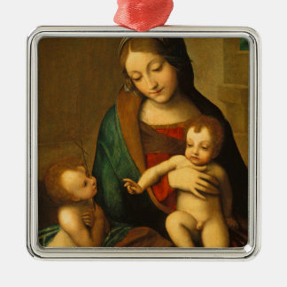 Madonna and Child with Saints Christmas Ornament
