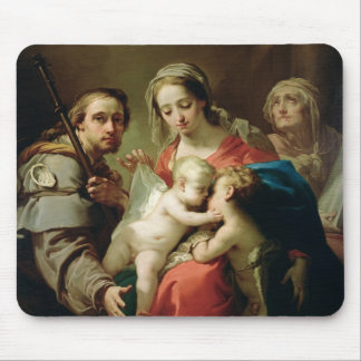Madonna and Child with Saints John, Anna and Rocco Mouse Mat