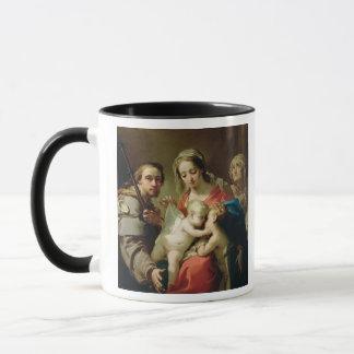Madonna and Child with Saints John, Anna and Rocco Mug