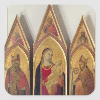 Madonna and Child with SS. Nicholas and Proculus, Square Sticker