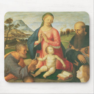 Madonna and Child with SS. Peter, Jerome and Mary Mouse Pad