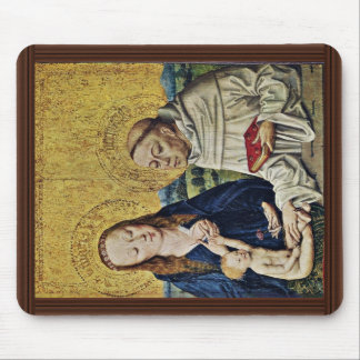 Madonna And Child With St. Bernard By Meister Des Mouse Pad